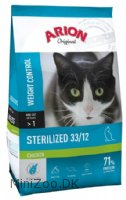 ARION Original Sterilized Chicken 33/12 Kattemad 7,5 kg