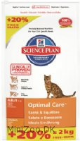 Feline Adult Optimal Care Chicken 10+2 kg Bonus Bag