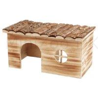 træ seng hus