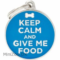 Hundetegn My family Keep Calm and Give me Food
